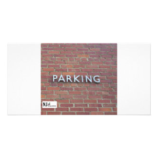 The Parking Brick Wall Photo Cards