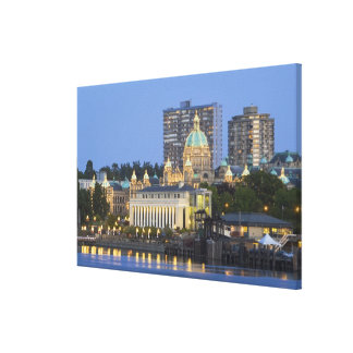 The Parliament Buliding lit up at the inner Stretched Canvas Print