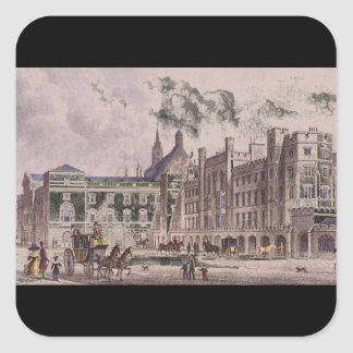 The Parliament House, from_Engravings Square Sticker