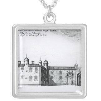 The Parliament House in Edinburgh Silver Plated Necklace