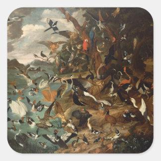 The Parliament of Birds Square Sticker