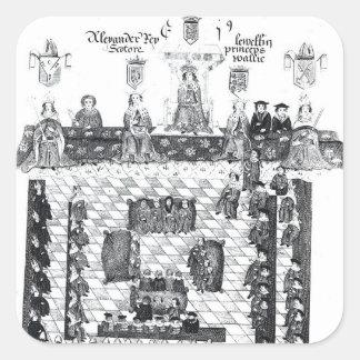 The Parliament of Edward I Square Sticker