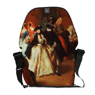 The Parlour (oil on canvas) Messenger Bags