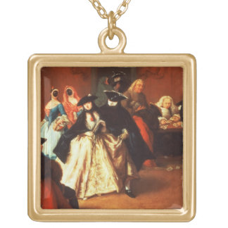 The Parlour (oil on canvas) Necklace