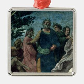 The Parnassus Silver-Colored Square Decoration