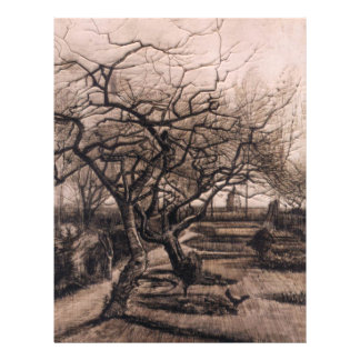 The Parsonage Garden - Nuenen in Winter - van Gogh 21.5 Cm X 28 Cm Flyer