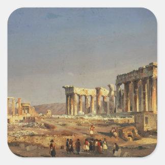 The Parthenon, 1863 Square Sticker