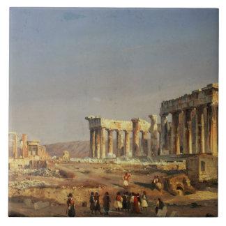 The Parthenon, 1863 Large Square Tile