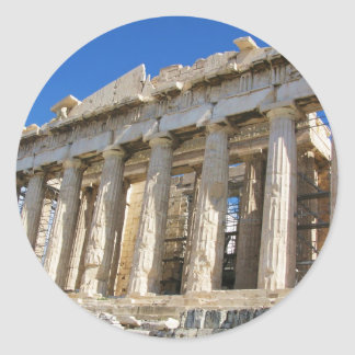 The Parthenon at Acropolis  447 BC Classic Round Sticker