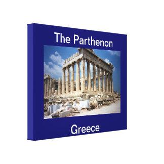 The Parthenon Greece  Wrapped Canvas Canvas Print