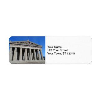 The Parthenon, Nashville Return Address Label