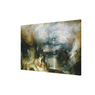 The Parting of Hero and Leander (oil on canvas) Canvas Print