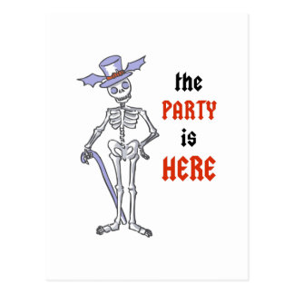 The Party Is Here Postcard