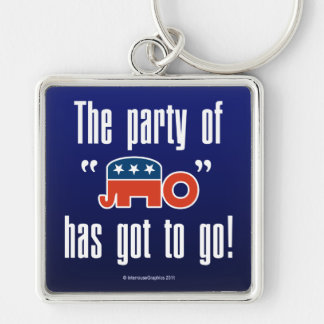 The Party of No Has Got To Go! Key Chain