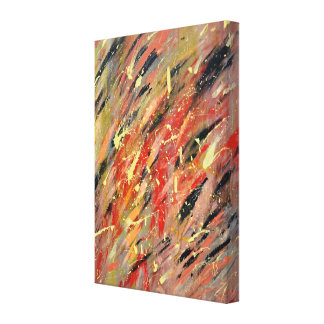 The party stretched canvas print
