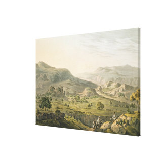 The Pass of Atbara in Abyssinia, engraved by Danie Canvas Print