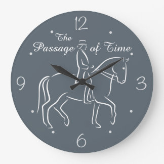 The passage of time dressage clock