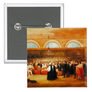 The Passing of the Great Emancipation Act, c.1829 15 Cm Square Badge