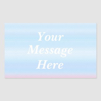 The pastel color decoration rectangular seal which rectangular sticker