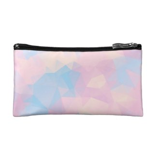 The Pastel Colours Low Poly Cosmetic Bag