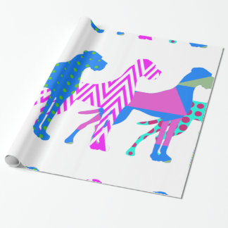 The Pat Great Dane Wrapping Paper