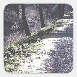 The Path Along The Creek Square Sticker