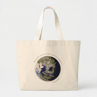 the path home is through the heart Eco-Tote Canvas Bags