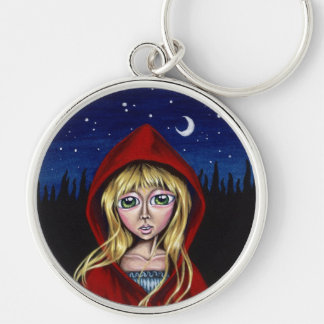 The Path Of Needles Or Pins Red Riding Hood Keycha Silver-Colored Round Key Ring