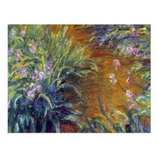 The Path Through the Irises by Claude Monet Postcard