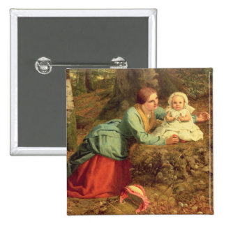 The Path Where The Brown Leaves Are Spread, 1862 ( 15 Cm Square Badge