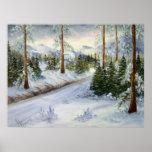 The Path Winter Landscape Print