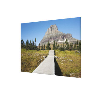 The pathway to the view of Hidden Lake Canvas Print