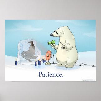 The Patient Polar Bear Poster