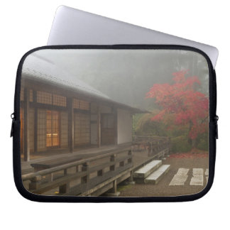 The pavilion at the Portland Japanese Garden Laptop Sleeve