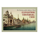 The Pavilions of the Nations ~ Paris ~ Vintage Poster