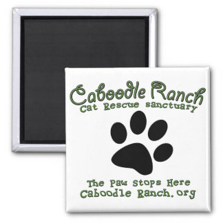 'The Paw Stops Here' Square Magnet