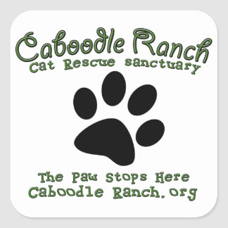 'The Paw Stops Here' Square Sticker
