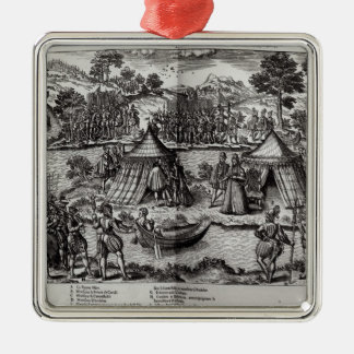 The Peace Made on L'Isle aux Boeufs Christmas Ornament