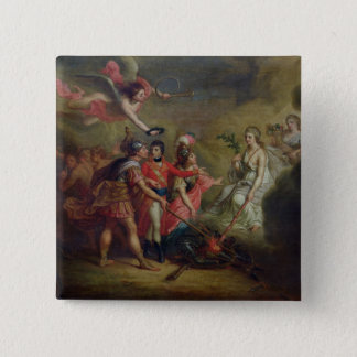 The Peace of Amiens, 25th March 1802 15 Cm Square Badge