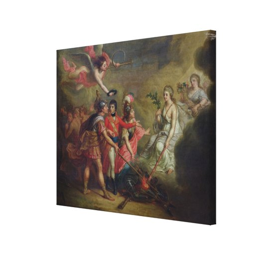 The Peace of Amiens, 25th March 1802 Stretched Canvas Print