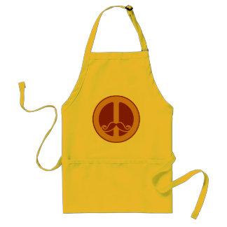 The Peace Stache apron - choose style, color
