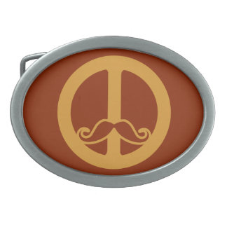 The Peace Stache belt buckle