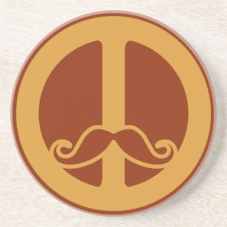 The Peace Stache coaster