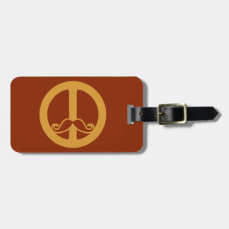 The Peace Stache custom luggage tag