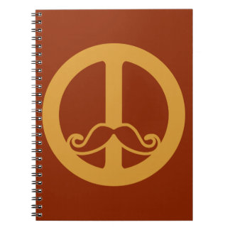 The Peace Stache custom Notebooks