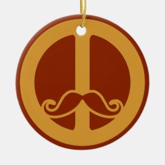 The Peace Stache custom ornament