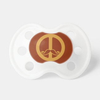 The Peace Stache pacifier