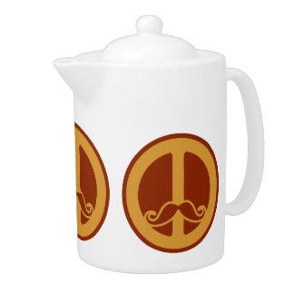 The Peace Stache teapot