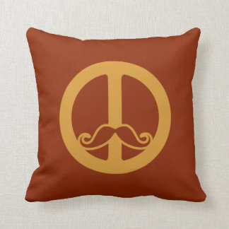 The Peace Stache throw pillow
