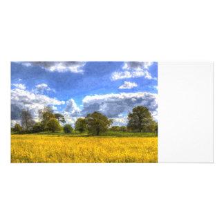 The Peaceful Farm Art Custom Photo Card